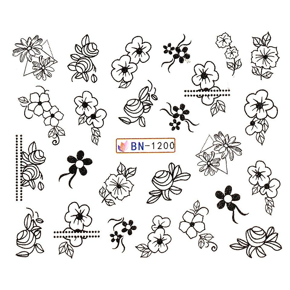 Tatuaj unghii LUXORISE, Fantasy BN-1200 poza