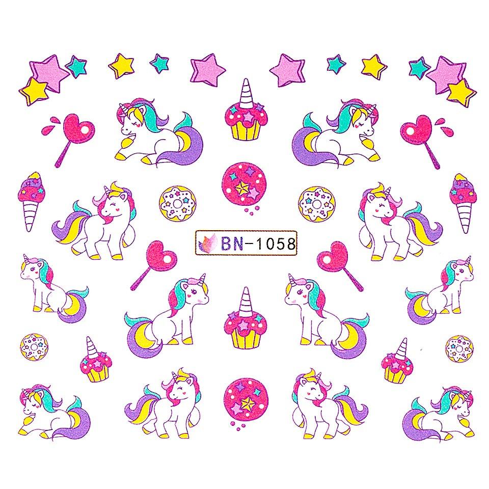 Tatuaj unghii LUXORISE, Unicorn BN-1058 imagine produs