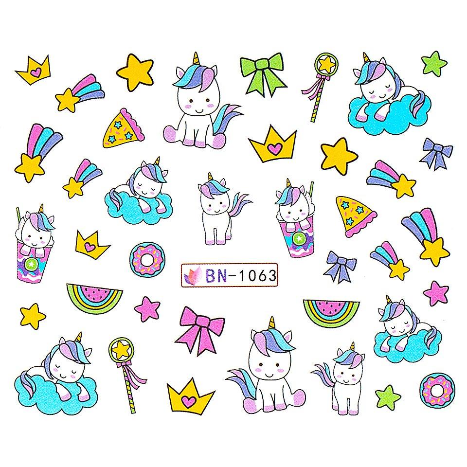 Tatuaj unghii LUXORISE, Unicorn BN-1063 imagine produs