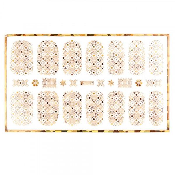 Poze Abtibild unghii cu modele aurii H002