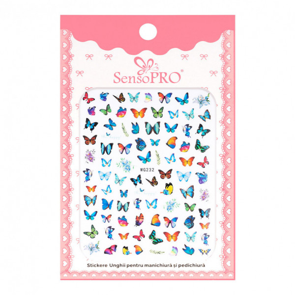 Poze Abtibilduri unghii SensoPRO Magic Butterfly, model WG232