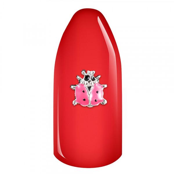 Poze Decoratiune Unghii 3D - Pink Ladybug