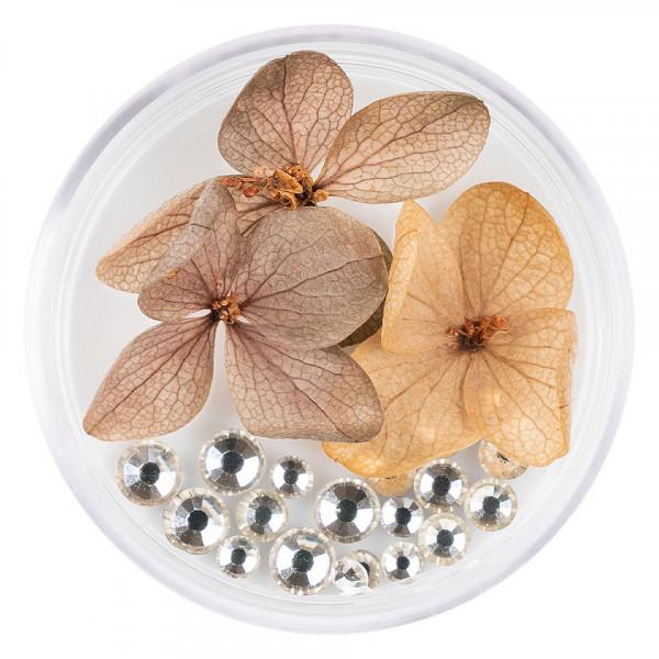 Poze Flori Uscate Unghii LUXORISE cu cristale - Floral Fairytale #12