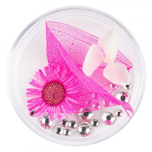 Poze Flori Uscate Unghii LUXORISE cu cristale - Floral Fairytale #22