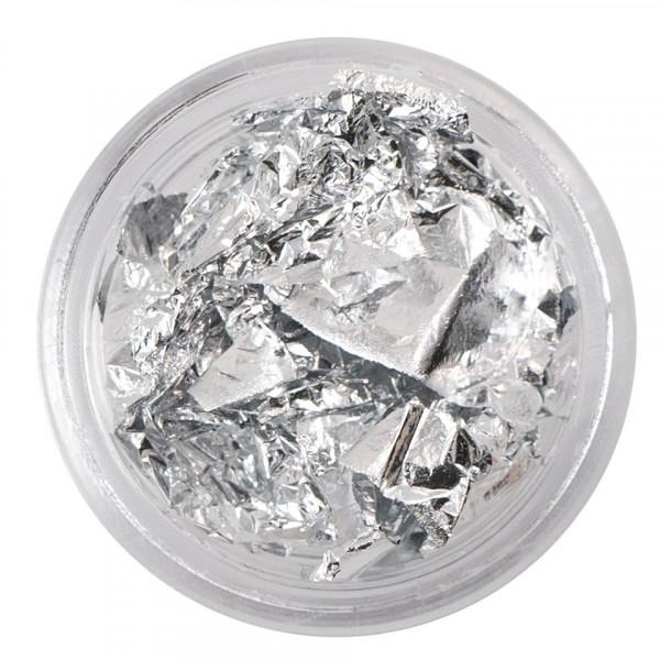 Poze Foita Creponata Unghii Fraulein38, argintie