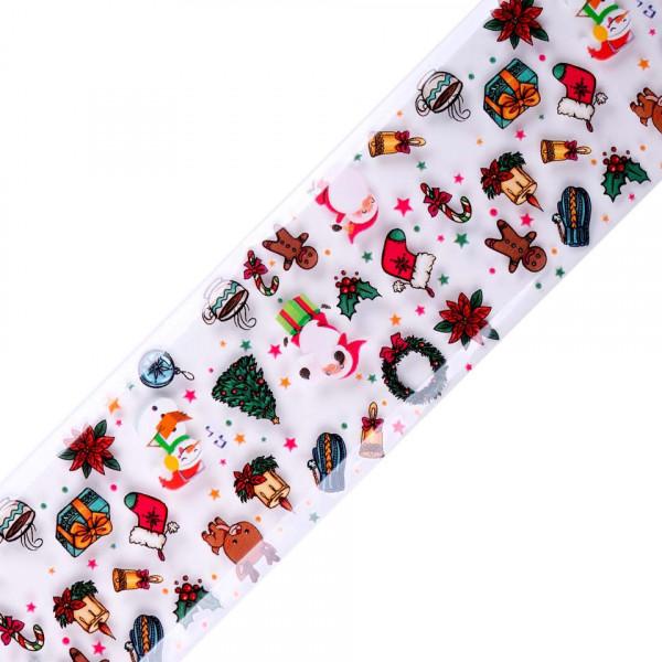 Poze Folie de Transfer Unghii LUXORISE #350 Christmas Vibes