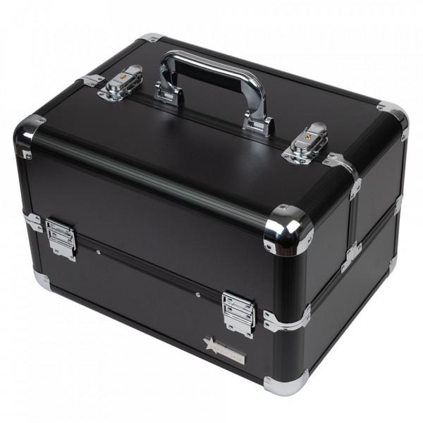 Poze Geanta Produse Cosmetice din aluminium Fraulein38, culoarea Charcoal Black