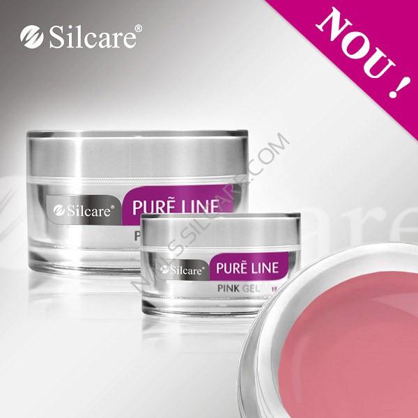Poze Gel UV Silcare Pure Line Pink - Roz, 15 gr.