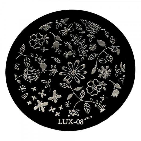 Poze Matrita Metalica Stampila Unghii LUX-08 - Nature