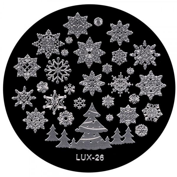 Poze Matrita Metalica Stampila Unghii LUX-26 - Winter's Tale