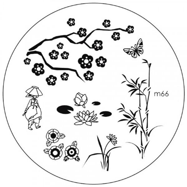 Poze Matrita Metalica Stampila Unghii M66 - Nature