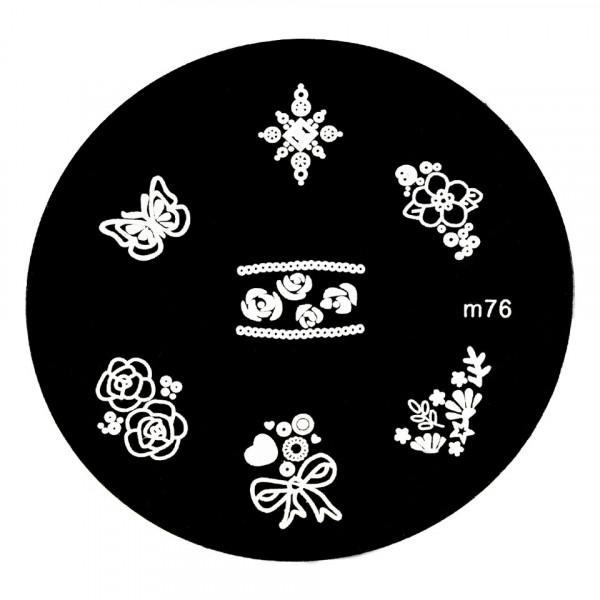 Poze Matrita Metalica Stampila Unghii M76 - Nature
