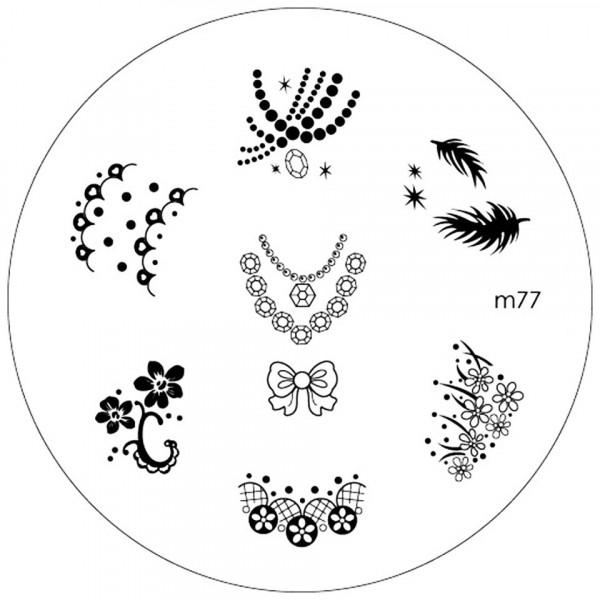 Poze Matrita Metalica Stampila Unghii M77 - Nature