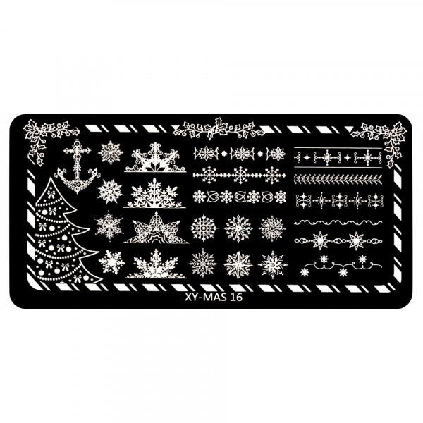 Poze Matrita Unghii XY-MAS 16 Merry Christmas