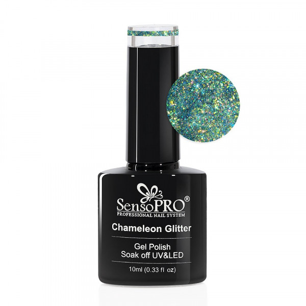 Poze Oja Semipermanenta Cameleon Glitter SensoPRO 10ml - 001 Enchanted Forest