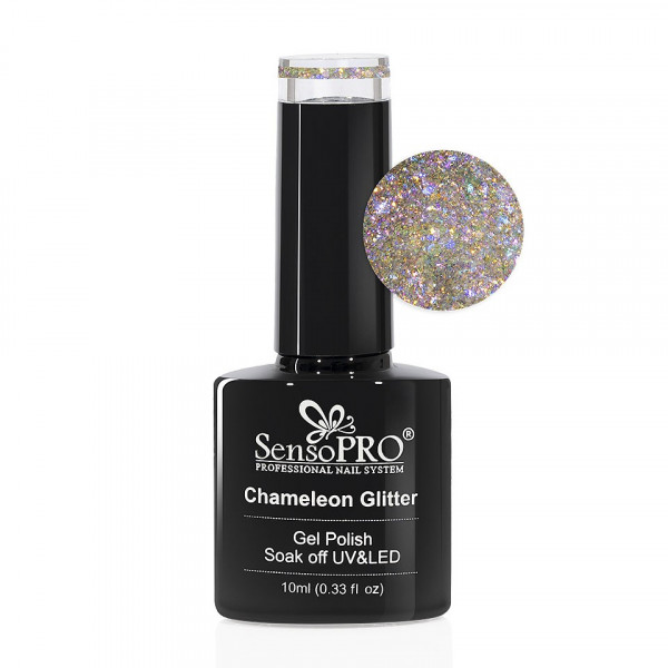 Poze Oja Semipermanenta Cameleon Glitter SensoPRO 10ml - 005 Fairy Wings