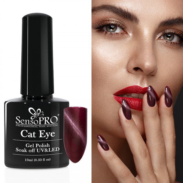 Poze Oja Semipermanenta Cat Eye SensoPRO 10ml - #014 SweaterGirl