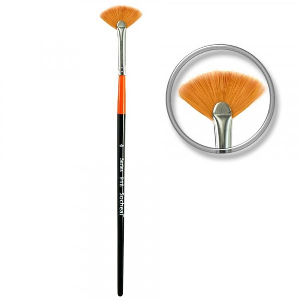 Poze Pensula evantai pentru decor unghii nr.4 - Orange Fan