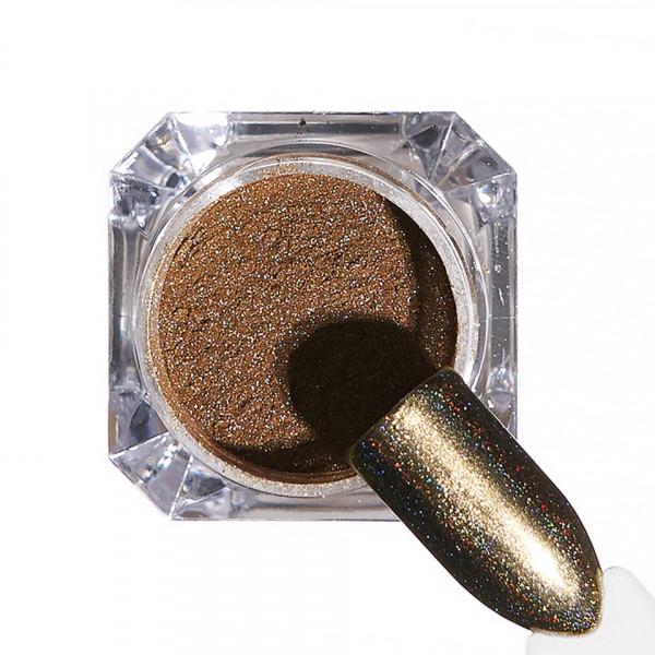 Poze Pigment unghii Holografic #45 cu aplicator - LUXORISE