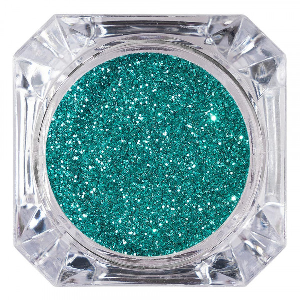 Poze Sclipici Glitter Unghii Pulbere LUXORISE, Turquoise Green #11