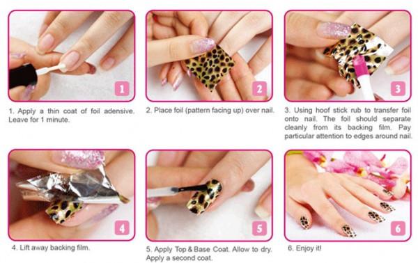 Poze Set Folie Transfer Trendy Nails - 3 buc. + Adeziv Special 10 ml