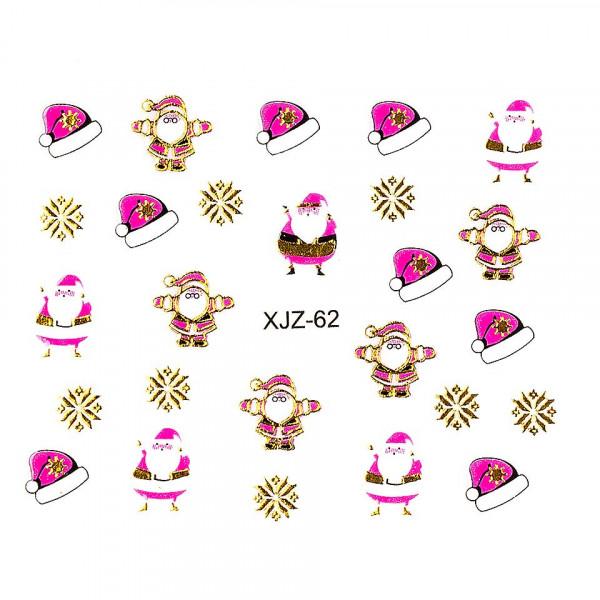 Poze Sticker 3D Unghii LUXORISE XJZ-62, Christmas Collection