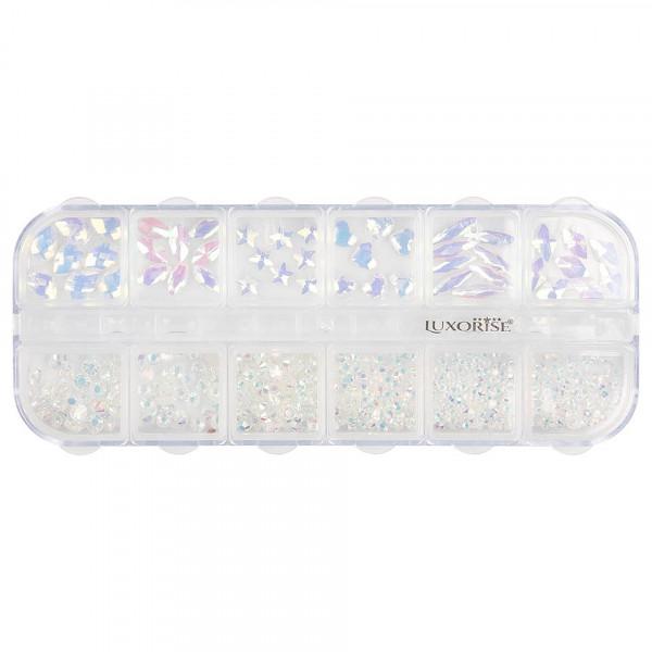 Poze Strasuri Unghii LUXORISE, Unicorn Crystal, 12 modele