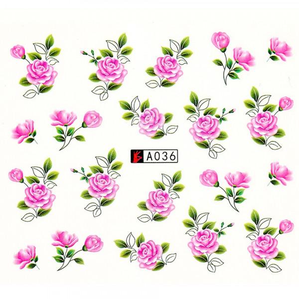 Poze Tatuaj unghii A036 flori