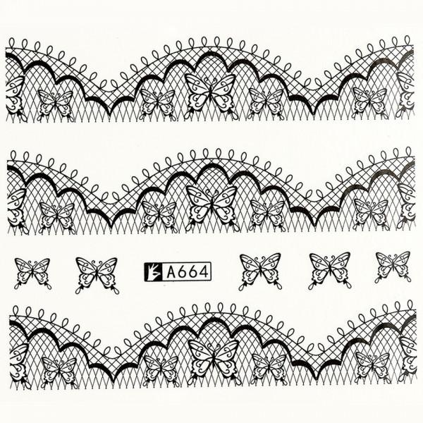 Poze Tatuaj unghii A664 lace