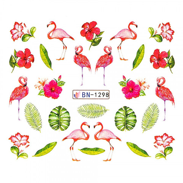 Poze Tatuaj unghii LUXORISE, Flamingo BN-1298