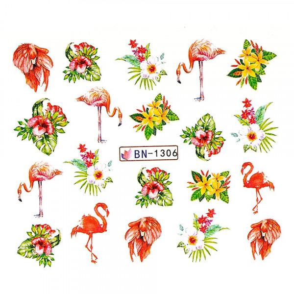 Poze Tatuaj unghii LUXORISE, Flamingo BN-1306