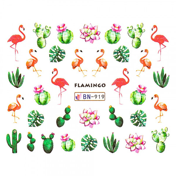 Poze Tatuaj unghii LUXORISE, Flamingo BN-919