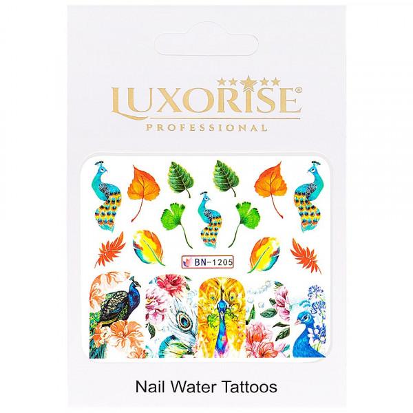 Poze Tatuaj unghii LUXORISE, Peacock BN-1205