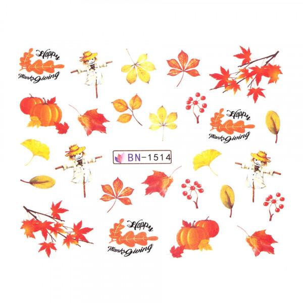 Poze Tatuaj unghii SensoPRO Autumn Challenge, model BN-1514