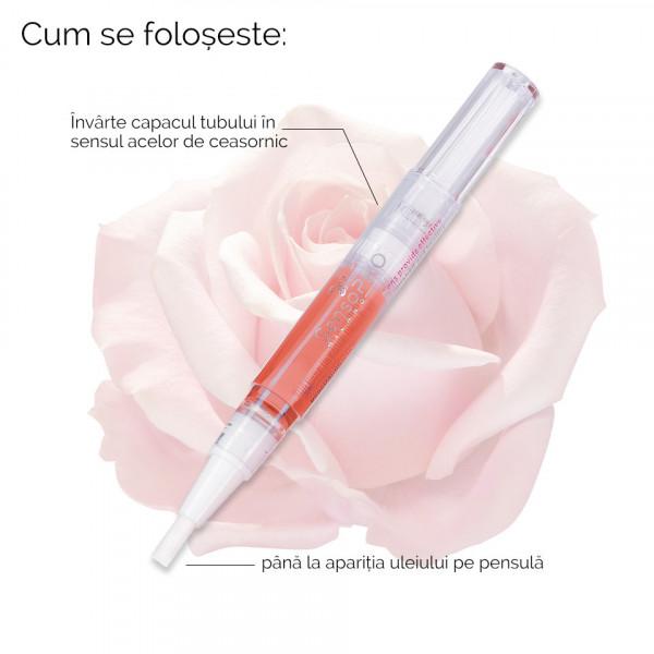 Poze Ulei Cuticule Stilou cu Trandafir SensoPRO Milano, Tratament Unghii