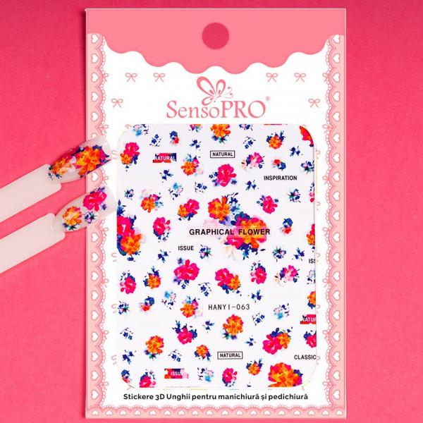 Poze Abtibilduri unghii SensoPRO Art in Bloom, model HANYI-063