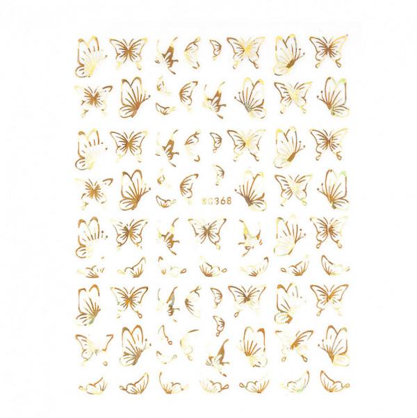 Poze Abtibilduri unghii SensoPRO Magic Butterfly, model WG368 Gold
