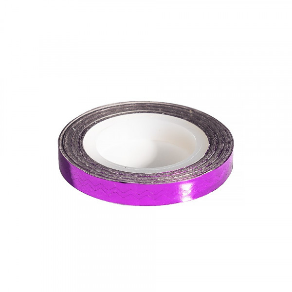 Poze Banda Decor Unghii - Purple Waves Line