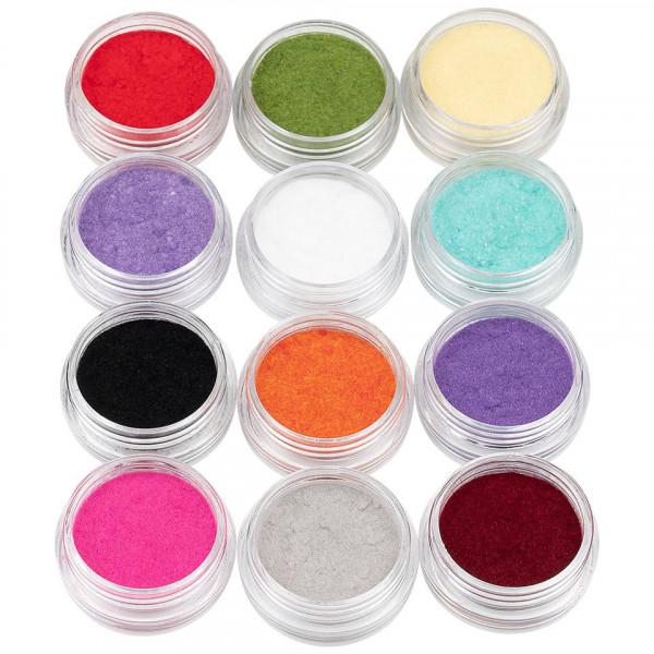 Poze Catifea Unghii - Set 12 cutiute multicolore