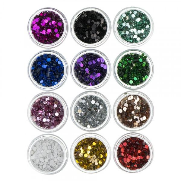 Poze Confetti Unghii Circulare - Set 12 bucati