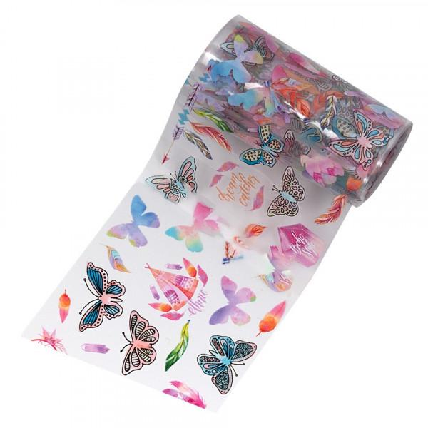 Poze Folie de Transfer Unghii LUXORISE #20-1 Butterfly Mania