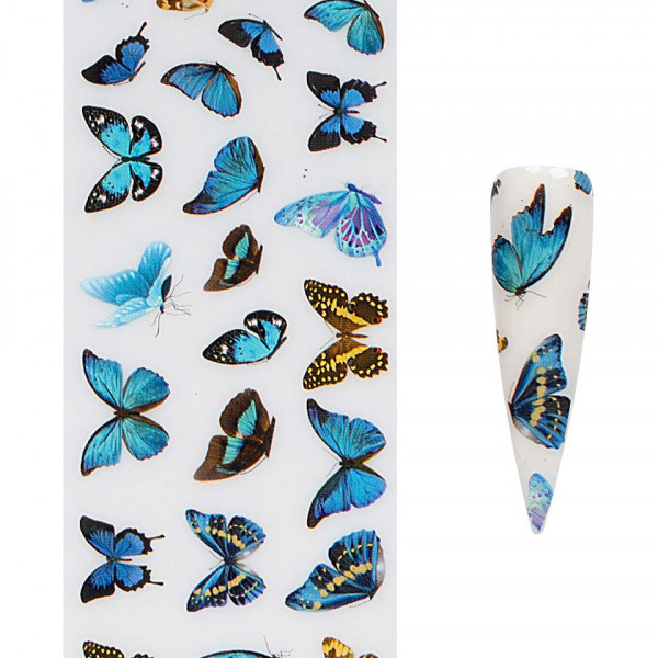 Poze Folie de Transfer Unghii LUXORISE #421 Butterfly