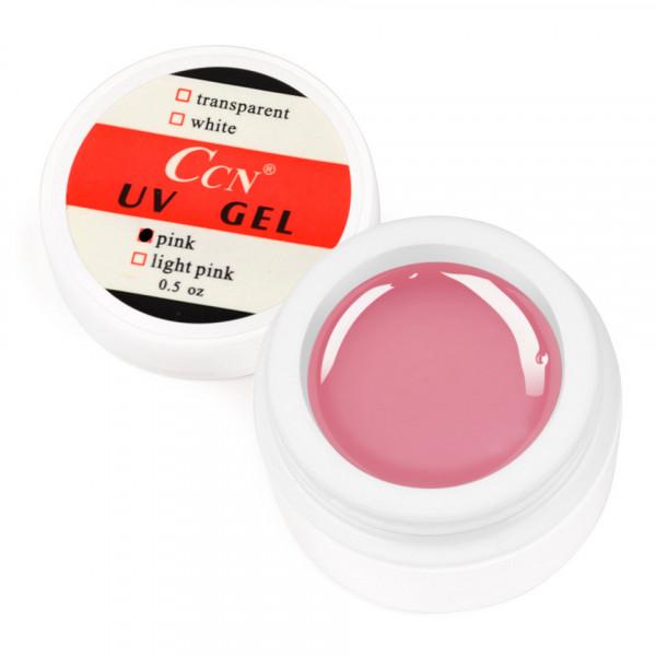 Poze Gel UV CCN 15 gr Pink - Roz Transparent
