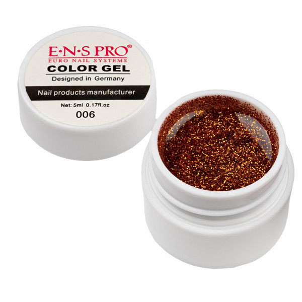 Poze Gel UV Color cu Sclipici ENS PRO #006 - Martian Sun