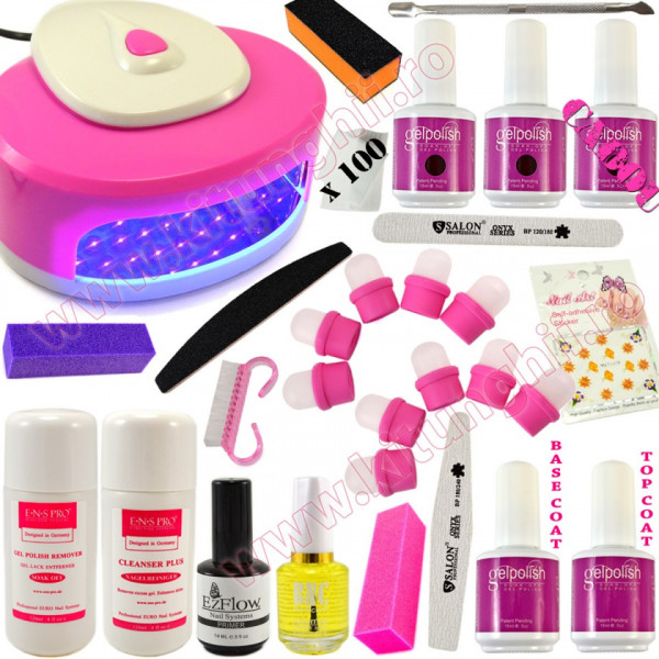 Poze Kit Oja Semipermanenta Profesionala Gelpolish Germania 15ml cu Lampa LED #17 + CADOU
