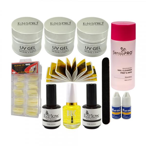 Poze Kit Unghii False cu Gel UV ENS PRO Deluxe - Consumabile Promotie #31
