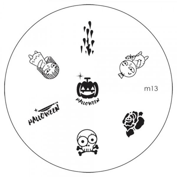 Poze Matrita Metalica Stampila Unghii M13 - Halloween