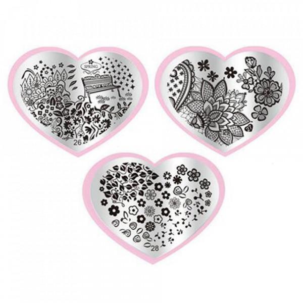 Poze Matrita Metalica Stampila Unghii - Nature Love Story