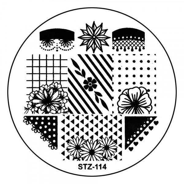 Poze Matrita Metalica Stampila Unghii STZ-114 - Nature