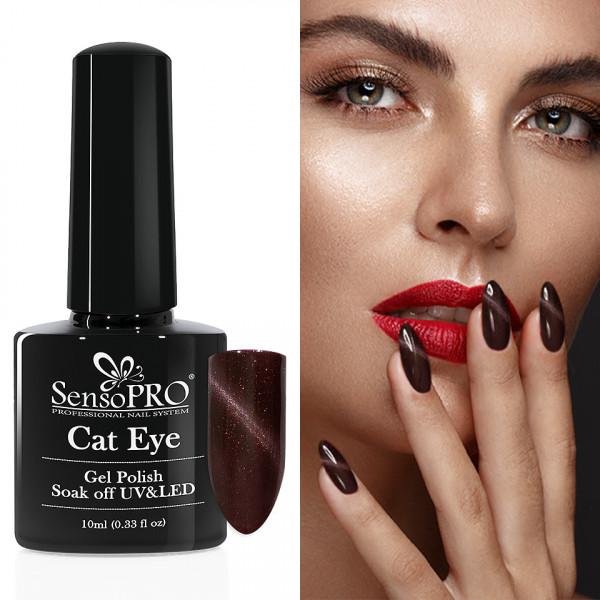 Poze Oja Semipermanenta Cat Eye SensoPRO 10ml - #015 Twilight
